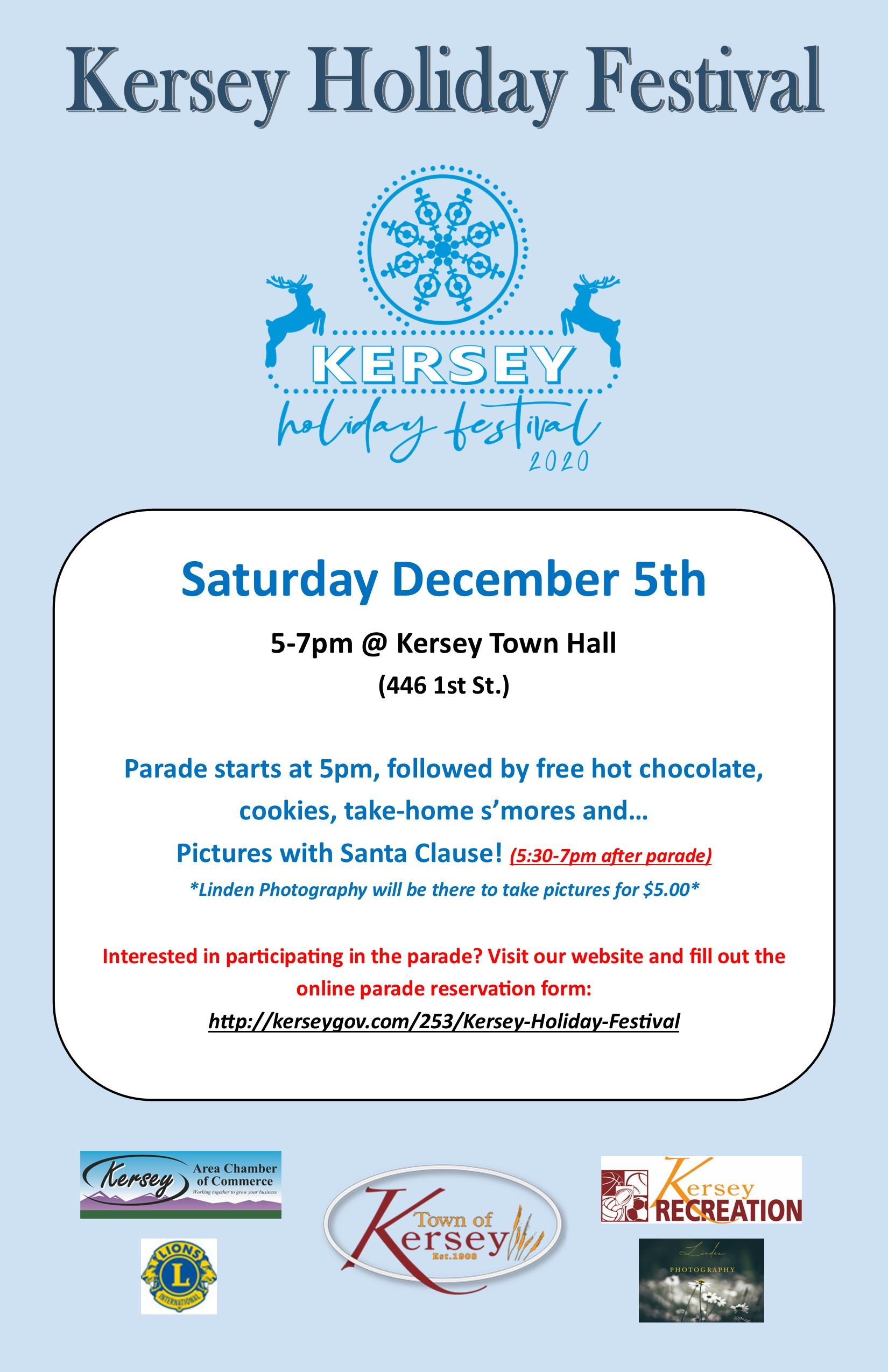 Kersey Holiday Festival Flyer