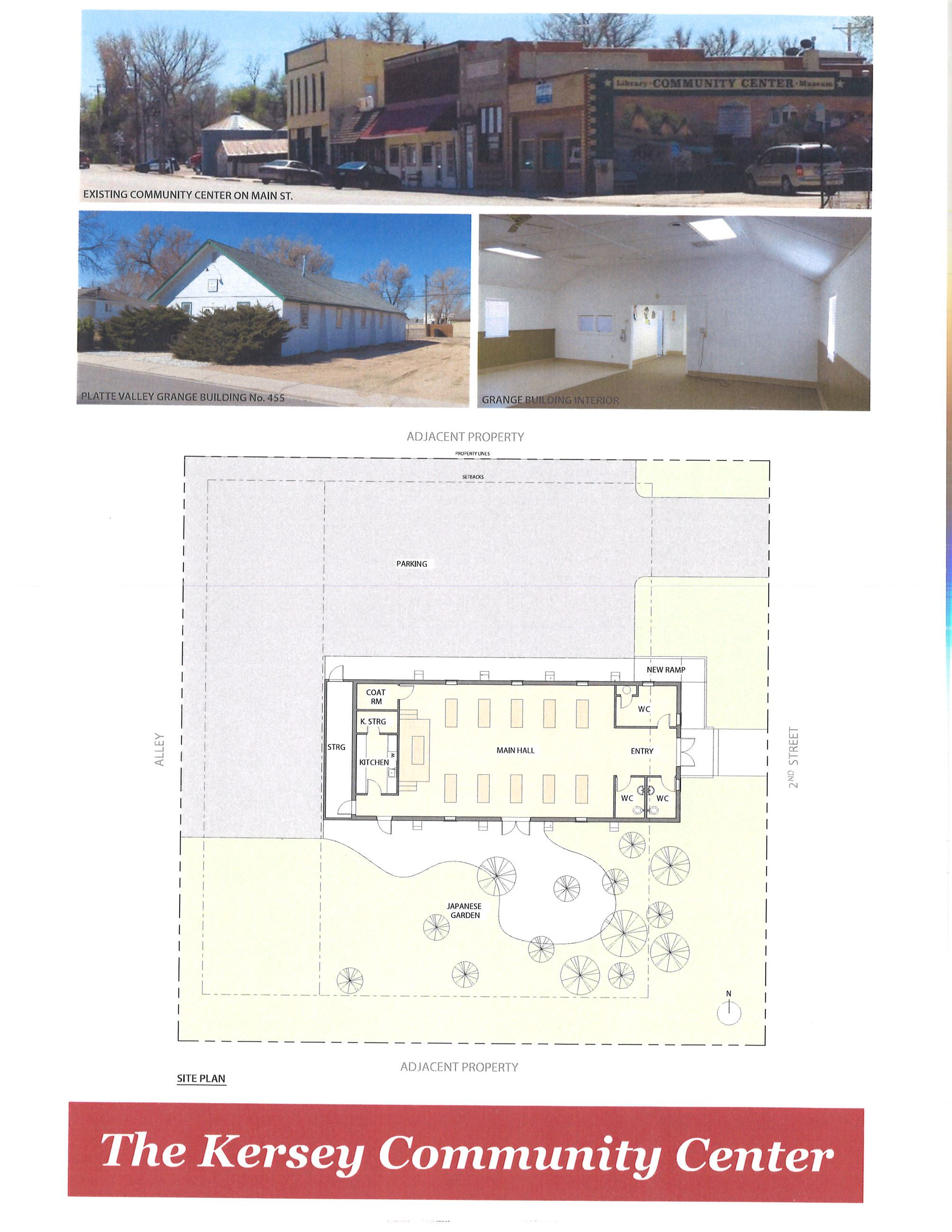 OVERVIEW ARCHITECTURAL CONCEPTUAL RENDERINGS OF THE KERSEY COMMUNITY CENTER AT THE GRANGE